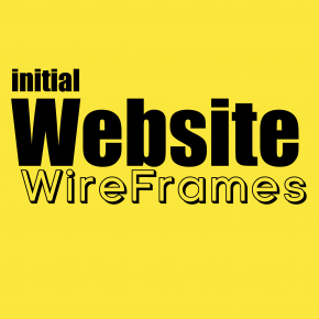 initial website wireframes sketches